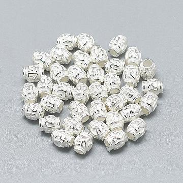 Silver Barrel Sterling Silver Beads