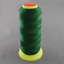 Fil à coudre de nylon, darkgreen, 0.8mm, environ 300 m / bibone (NWIR-Q005-05)