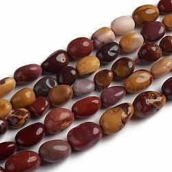 perles de Mookaite naturel brins, nuggets, 10~15x7.5~11.5x7.5~12.5 mm, trou: 1 mm, environ 36 pcs / brin, 15.67 (39.8 cm)(G-D0002-D72)