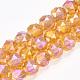 Chapelets de perles en verre galvanoplastique(EGLA-S176-04)-3