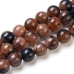 perles de grenatite naturelle, arrondir, 8 mm, trou: 0.8 mm; environ 50 perle / brin, 15.75 (40 cm)(G-I203-B-8mm)