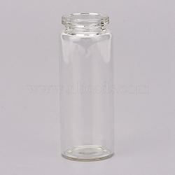 Bouteille en verre, souhaitant bouteille, sans bouchon, clair, 70x27mm, Trou: 16mm, goulot d'étranglement: 19mm(AJEW-XCP0001-03)