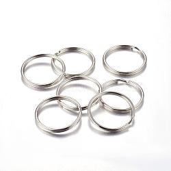 fer divisé porte-clés, conclusions de fermoir porte-clés, platine, 30x3 mm; diamètre intérieur: 26 mm(X-IFIN-C057-30mm)