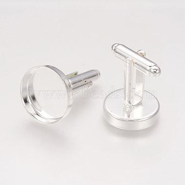 Brass Cuff Button(X-KK-G175-S)-2
