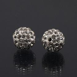 полимерной глины шариков Rhinestone, проложить шарики шарика диско, класс, вокруг, кристалл, С. 9 (1.5 мм); 1.6 мм, отверстия: 6 mm(X-RB-A053-6mm-01)