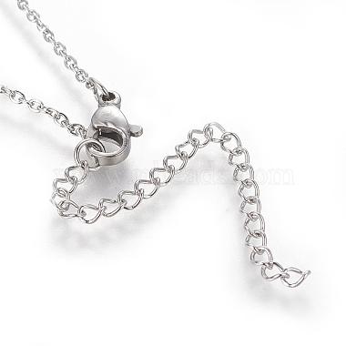 Brass Initial Pendant Necklaces(NJEW-I230-24P-K)-2