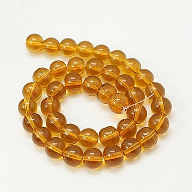 4mm Goldenrod Round Glass Crystal Beads Strands Spacer Beads for DIY Crafting(X-GR4mm13Y)-2