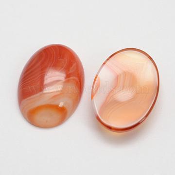Natural Carnelian Cabochons, Oval, 25x18x7~10mm.(X-G-D860-A22)