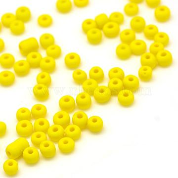 3mm Yellow Glass Beads