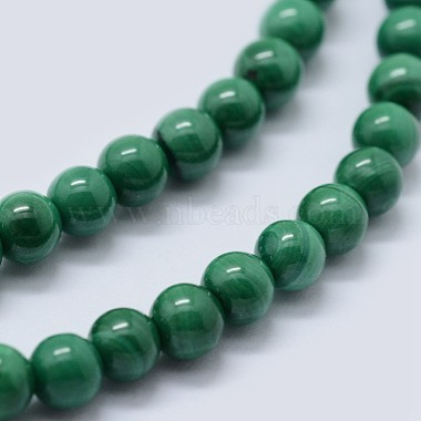 Natural Malachite Beads Strands(G-F571-27AB1-8mm)-3