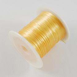 Étirement or perles élastique chaîne de fil, 1mm, 10m/rouleau(X-EW-S002-18)