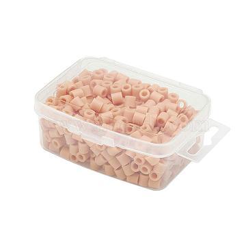 1 Box 5mm Hama Beads PE DIY Fuse Beads Refills for Kids, Tube, PeachPuff, 5x5mm, Hole: 3mm; about 500pcs/box(DIY-X0047-18-B)