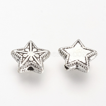 11mm Star Alloy Beads