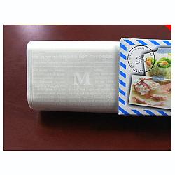 Papier d'emballage de gâteau alimentaire jetable, papier sulfurisé, style anglais, colorées, 25x21.8cm; 50pcs / boîte(DIY-L009-A03)
