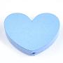 29mm Bleu Ciel Clair Coeur Bois Perles(X-WOOD-T012-09E)