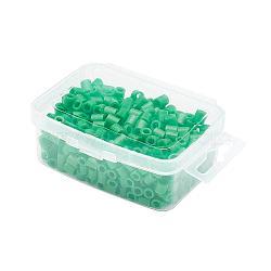 1 boîte 5mm perles hama PE de bricolage recharges pour enfants, Tube, mediumseagreen, 5x5mm, trou: 3 mm; environ 500 / boîte(DIY-X0047-44-B)
