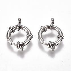 304 пружинные кольца из нержавеющей стали, нержавеющая сталь цвет, 17x3 mm, отверстия: 3 mm(STAS-F224-03-C)