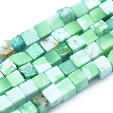 2mm Cube Synthetic Turquoise Beads