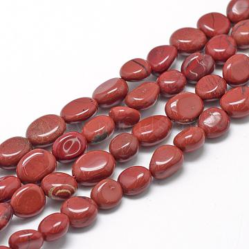 8mm Oval Red Jasper Beads