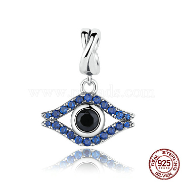 20mm Colorful Eye Sterling Silver Dangle Beads