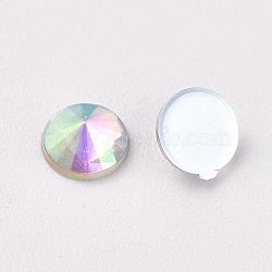 acrylique strass dos plat, ab couleur, cône, clair ab, 4.5x2.5 mm; sur 100 PCs / sac(OACR-WH0003-05A-04)