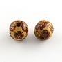 Sienna Round Wood Beads(X-WOOD-R243-16mm-B04)