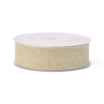 Polyester Ribbons, Bisque, 1 inches(25mm); about 100yards/roll(91.44m/roll)(SRIB-L051-25mm-C004)