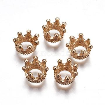 Alloy Beads, Crown, Light Gold, 10.5~12x6mm; Inner Diamrter: 5.5mm(X-PALLOY-F247-02LG)