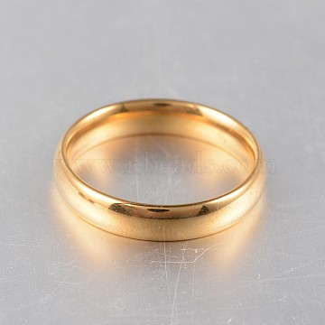 316 Surgical Stainless Steel Rings, Golden, 16~19mm(RJEW-N020-18G)