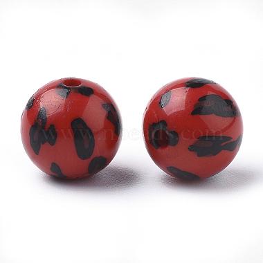 Perles acryliques imprimées(X-OACR-S022-15D)-2