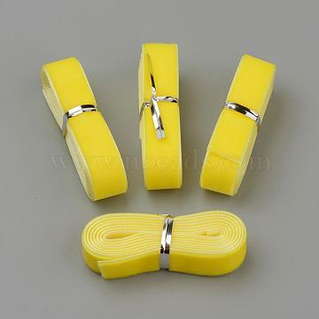 5/8 inch Single Face Velvet Ribbon, Yellow, 5/8 inch(16mm), about 1.094yards/bundle(1m/bundle)(OCOR-R069-16mm-023)