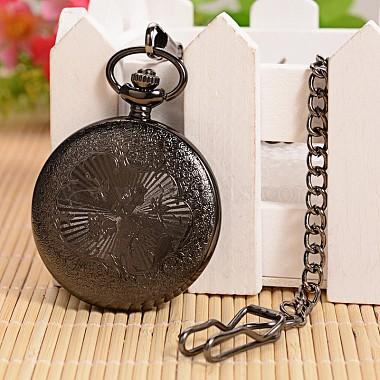 Открываться плоские круглые сплава подвеска карманные часы(X-WACH-L024-27)-4