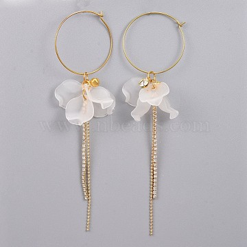 White Acrylic Earrings
