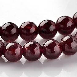 grenat naturel perles rondes brins, 3.5~4 mm, trou: 1 mm; environ 102 perle / brin, 15.7(G-E330-4mm-05)