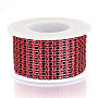 Red Plastic Rhinestone Banding Trim Chain(OCOR-N005-001C)
