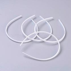 Accessoires de bande de cheveux en plastique, blanc, 110mm(MAK-MSMC001-02)