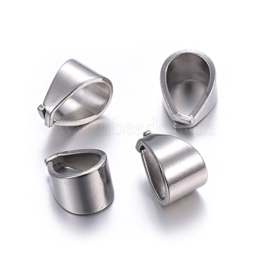 304 Stainless Steel Snap on Bails, Stainless Steel Color, 11.5x7x7.5mm(STAS-P223-05P)