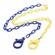 Personalized Two Tone ABS Plastic Cable Chain Necklaces(X-NJEW-JN02825-05)-1