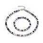 Noir Fimo Bracelets & Colliers(SJEW-JS01103-02)