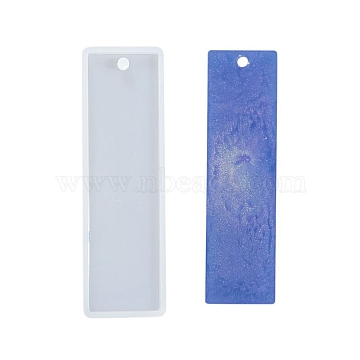 Silicone Molds, Resin Casting Molds, For UV Resin, Epoxy Resin Jewelry Making, Bookmark, Clear, 9.5x2.9cm(X-DIY-L021-14A)