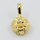 Real 20K Gold Plated Brass Buddhist Pendants(KK-K090-06G)-1