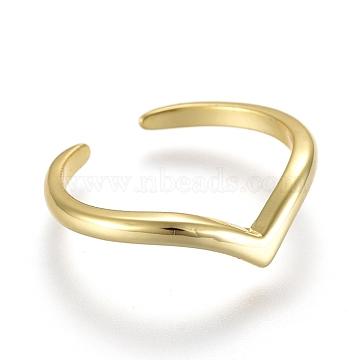 Adjustable Brass Toe Rings, Open Cuff Rings, Open Rings, Golden, US Size 1 3/4(13mm)(RJEW-EE0002-19G)