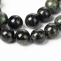 "Chapelets de perles de jasper kambaba naturel, rond, 6mm, trou: 1mm; environ 62 pcs/chapelet, 15.5""(G-M172-6mm-01)"
