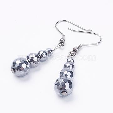 LightGrey Hematite Earrings