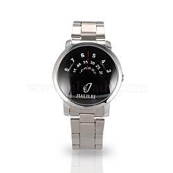 Мужчин случайные часы высококачественной нержавеющей стали кварцевые часы, 63 мм; голова часы: 40.5x46x12.5 мм; лицо часов: 35x35 мм(WACH-N004-10)
