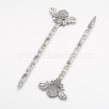 Tibetan Style Alloy Bookmarks, Antique Silver, 135x42x3mm(PALLOY-P122-28AS)