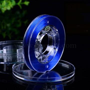 fil de fibre élastique, teints, mediumblue, 0.8 mm; sur 40 m / rouleau(EW-N005-01)
