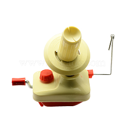 Plastic Yarn Ball Winder, LemonChiffon, 115x95x115mm(TOOL-R039-01)