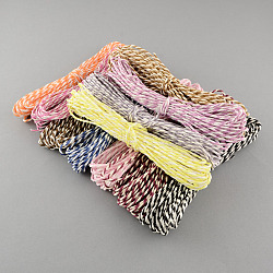 Mixed Color Twisted Paper Cord, For Paper Craft, Mixed Color, 2mm, about 7.65 yards(7m)/roll, 24rolls/bag(DIY-S003-04)