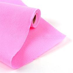 Feutre à l'aiguille de broderie de tissu non tissé pour l'artisanat de bricolage, hotpink, 450x1.5~2 mm; environ 1 m/rouleau(DIY-R069-01)